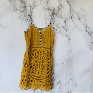 BKE/ Mustard Lace Top